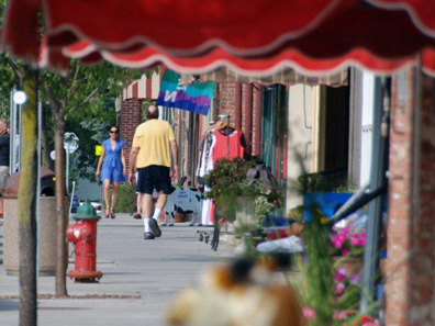 2012 Photo Gallery - Main Street at the August 2nd First Friday in Chatham, NY