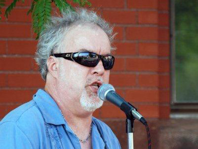 2012 Photo Gallery - Rich Hallenbeck at the August 2nd First Friday in Chatham, NY