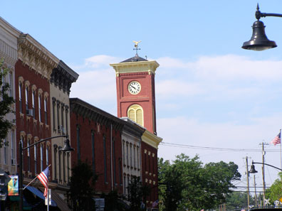 2011 photo gallery - Main Street, Chatham, NY in August
