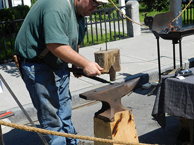 2015 Photo Gallery - Jacob Kuhnen Blacksmith was there demonstrating and selling his pieces.