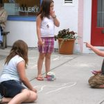 2012 Photo Gallery - During First Friday in June kids were invited to participate in Chatham's monthly first Friday by creating chalk drawings on village sidewalks.