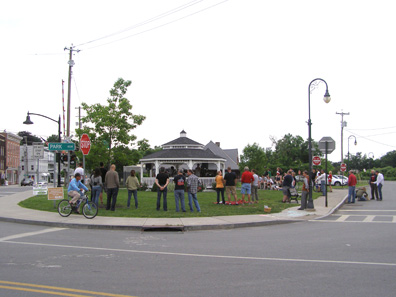 2012 Photo Gallery - The Brothers Born Bank and Mr. Funkypants provided music at the gazebo during June's First Friday