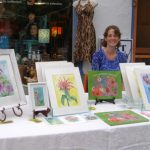 2012 Photo Gallery - Illustrator, artist and designer Alison Corbalis displayed her beautiful watercolors.