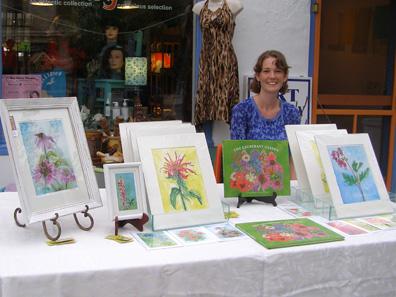 2012 Photo Gallery - Illustrator, artist and designer Alison Corbalis displayed her beautiful watercolors.