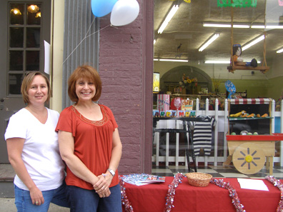 2012 Photo Gallery - Carol Patterson and Amy Kneller from the Columbia County Chamber of Commerce were on hand to show their support for Chatham's First Fridays.