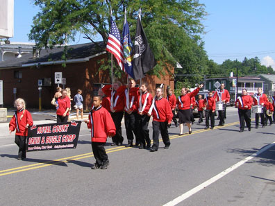 2012 Photo Gallery - Royal Court Drum and Bugle Corp from Dover Plains in the 2012 Firefighters' Parade in Chatham, NY