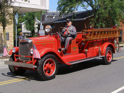 2012 Photo Gallery - Old Ghent Fire Company truck in the 2012 Firefighters' Parade in Chatham, NY