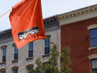 2010 photo gallery - Eleventh annual FilmColumbia flag on Main Street