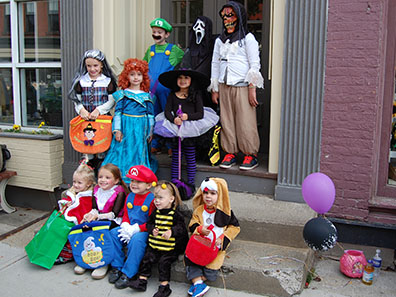 Halloween Trick or Treating in Chatham, NY 2013