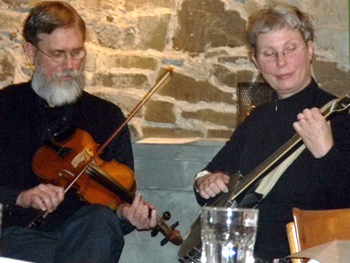 2012 Photo Gallery - Musicians playing downstairs at the Blue Plate in Chatham, NY
