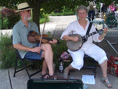 Brian and Lisa Johnson at Chatham NY Summerfest 2013