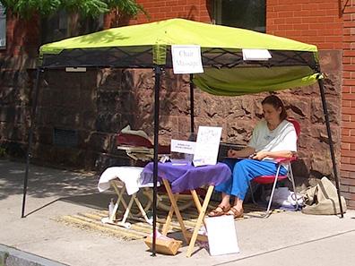 Morning Star Healing and Massage at Chatham NY Summerfest 2013