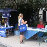 Chatham Dems booth at Chatham NY Summerfest 2013