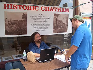 Historic Chatham Booth at Chatham NY Summerfest 2013