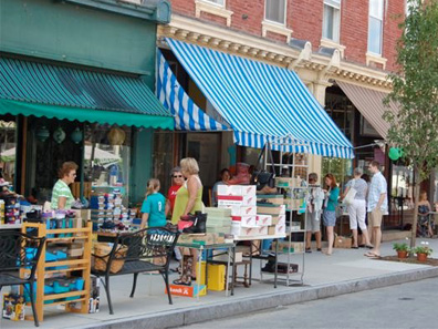2011 photo gallery - Brown's shoe sale during Chatham Summerfest 2011