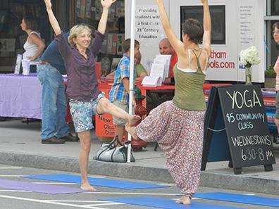 Yoga at Chatham NY Summerfest 2013