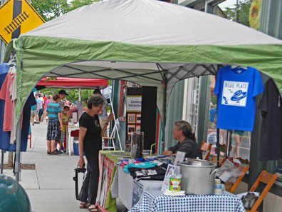 2012 Photo Gallery - Blue Plate Restaurant booth at Chatham Summerfest 2012