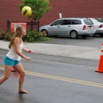 2012 Photo Gallery - Playing soccer on Main Street during Chatham Summerfest 2012