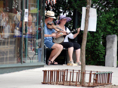 2012 Photo Gallery - Brian and Lisa playing music at Chatham Summerfest 2012