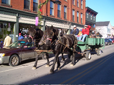 2011 photo gallery - Horse and Carriage rides during WinterFest in Chatham, NY