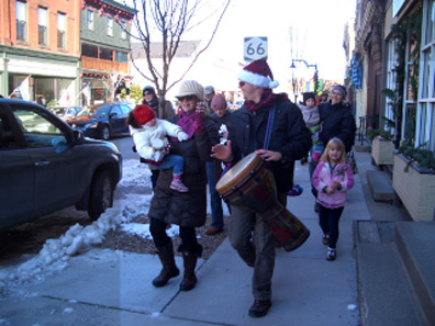 2011 photo gallery - The Winterfest Parade in Chatham, NY