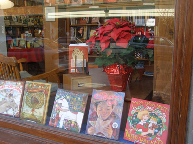 2011 photo gallery - The window at Chatham Books on Main Street in Chatham, NY