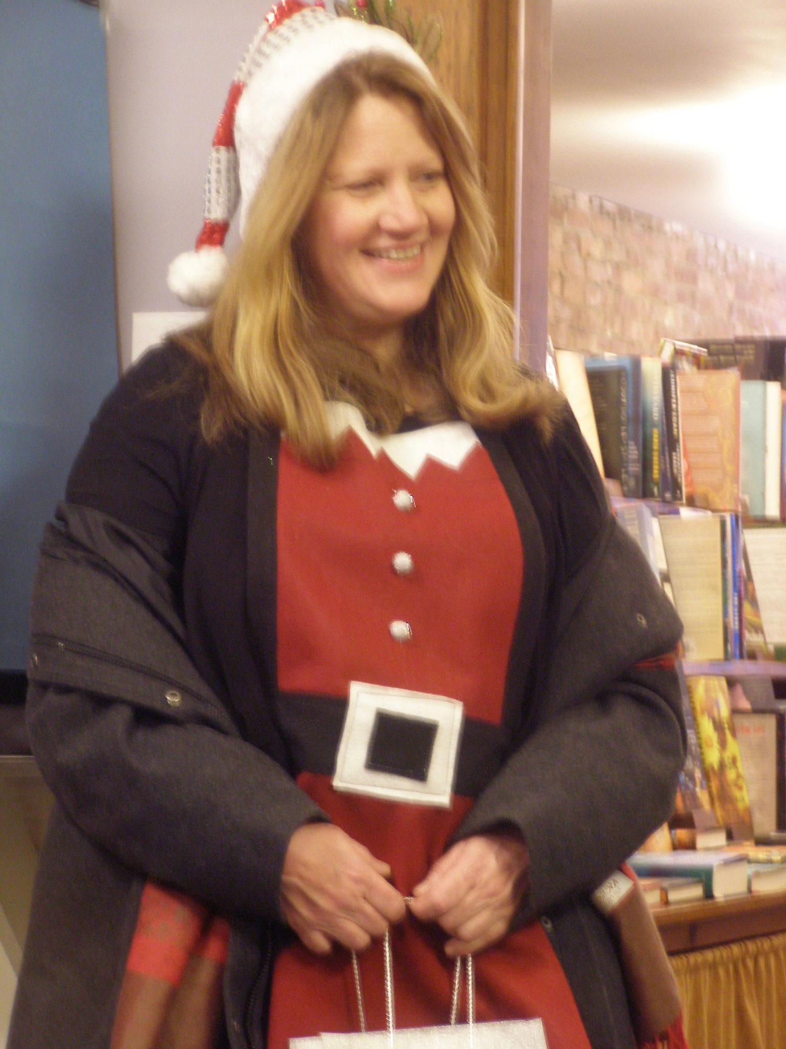 Cathi Bruneau is one of Santa's Helpers