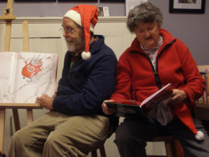 "Thomas Chulak and Judy Staber read ""How the Grinch Stole Christmas"" and ""A Snowy Day"""