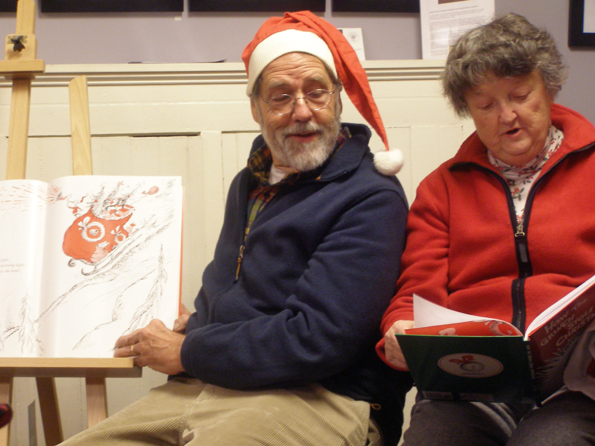 """Thomas Chulak and Judy Staber read """"How the Grinch Stole Christmas"""" and """"A Snowy Day"""""""