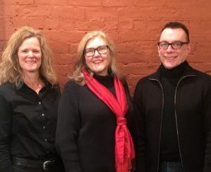 Left to right: Anne Marshall (Vice President), Debbye Byrum (President), James Knight (new Board Member).